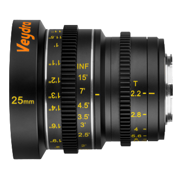 Veydra Lenses M4/3 Mini Prime 25mm T2.2