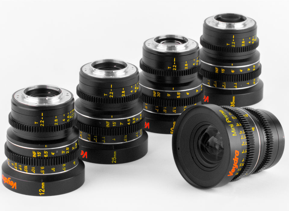 Veydra Lenses - M4/3 Mini Prime lens set