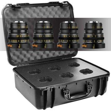Veydra lenses Mini Prime M4/3 lenses set. 16, 25, 35, 50mm with case