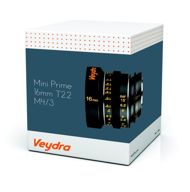Veydra Lenses Micro 4/3 Mini Prime Box side