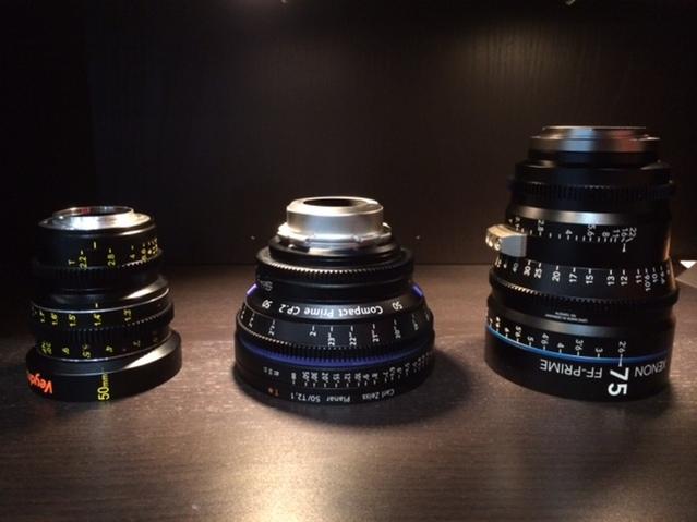 Veydra Lenses Micro 4/3  Mini Prime, Schneider Xenon FF Prime, Zeiss CP.2
