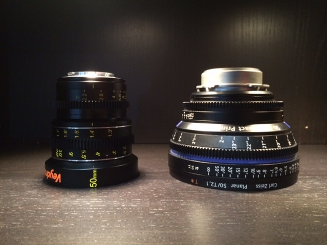 Veydra Lenses Micro 4/3  Mini Prime, Zeiss CP.2