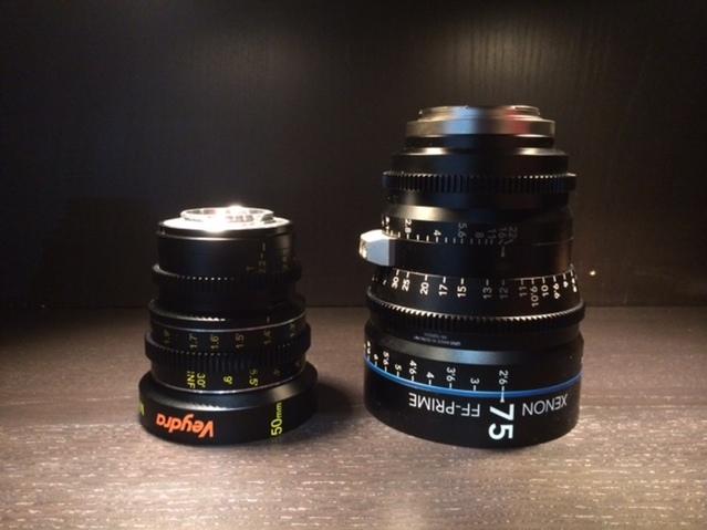 Veydra Lenses Micro 4/3  Mini Prime and Schneider Xenon FF Prime